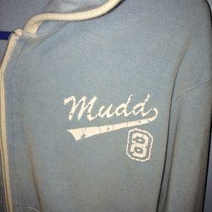 Mudd cropped zipup hoodie